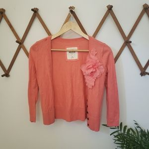 Hollister Cropped Cardigan w/ Applique